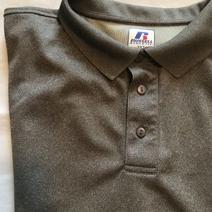 Russell Athletic Gray Polo Shirt